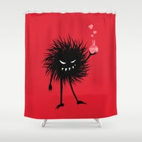 Evil Bug Made A Love Potion For You Shower Curtain by borianagiormova