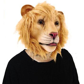 Lion Halloween Latex Animal Head Mask For Costume Party