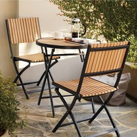 SONOMA outdoors 3-pc. Westport Chair & Table Set (Brown/Rust)