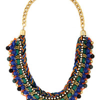 ModCloth Statement Bead Still My Heart Necklace in Blue