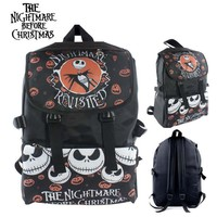 Nightmare Before Christmas Nylon Waterproof Laptop Shoulder / Schoolbag Backpack