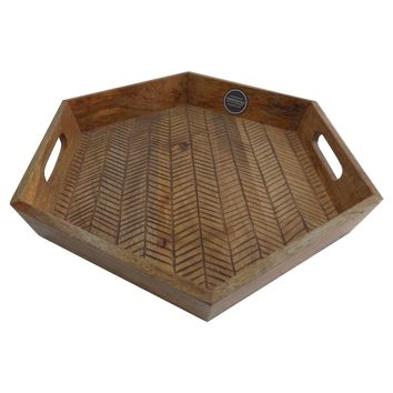 Burned Wood Tray - Threshold™ : Target