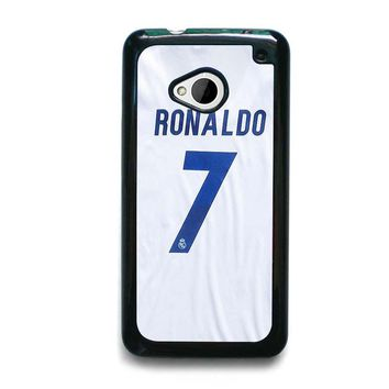 RONALDO CR7 JERSEY REAL MADRID HTC One M7 Case Cover