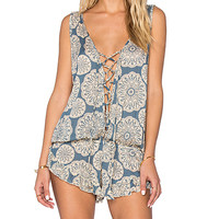 Barrier Reef Romper in Indie Rose & Cream