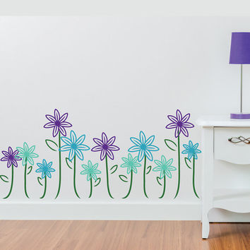Wall Decals - Stickers - Wall Art - Wall Decor - Nursery Wall Decals - Wall Decals for Kids - Decal girl - Flower Wall Decals - Decal