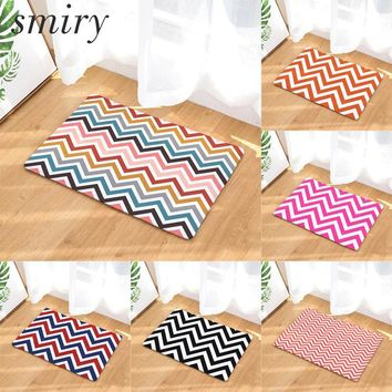 Autumn Fall welcome door mat doormat Smiry anti-skid colorfast commercial s colorful wave striped printing rugs dustproof bathroom bedroom kitchen carpets AT_76_7