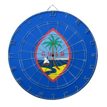 Dartboard with Flag of Guam, USA