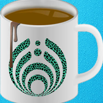 bassnectar mint leopard mug heppy coffee.