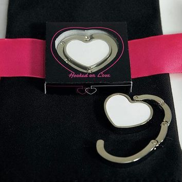 White Heart Shaped Purse Hook (Pack of 1)