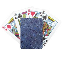 Blue Jewel Bicycle Playing Cards