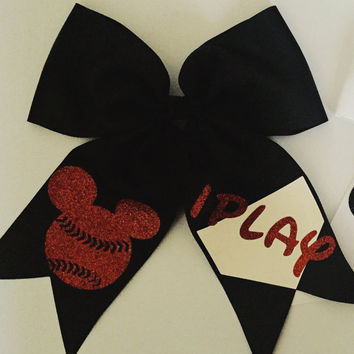 Mickey Mouse Softball iPlay Hair Bow