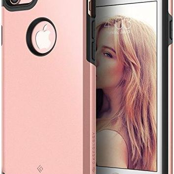 iPhone 7 Case, Caseology [Legion Series] Heavy Duty Protection Slim Protective Rugged Dual Layer Corner Cushion Design for Apple iphone 7 (2016) Only - Rose Gold