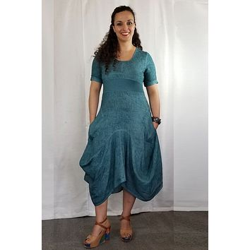 Italian Linen Dress by Inizio - Magic with short sleeve