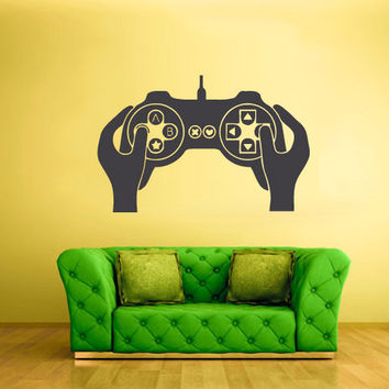 rvz1613 Wall Decal Vinyl Sticker Decals Gaming Time Xbox Ps3 Hands Controller