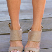 Brave Beginnings Wedges, Taupe