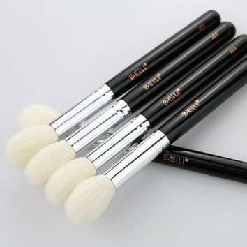 BEILI J01 Natural Goat Hair Blusher Highlight Medium size Single Makeup Brush One Piece