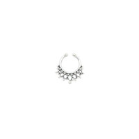 Jumana Mini. Silver Tibetan Septum Ring - Clip