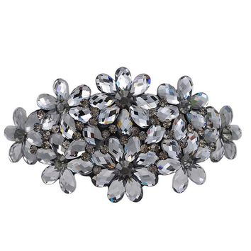 Blucome Colorful rhinestone Flower Hairpins Bridal Jewelry hair Clips Bijoux Duckbill Clips Women Bridal Jewelry