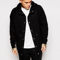 ASOS Oversized Parka Jacket In Jersey
