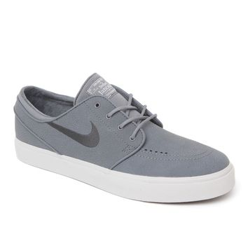Nike SB Zoom Stefan Janoski Leather Shoes - Mens Shoes - Gray