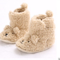 Girl Teddy Bear Booties