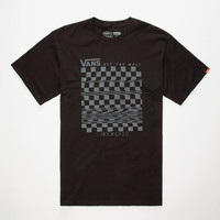 Vans Glitch Check Mens T-Shirt Black  In Sizes