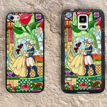 Kiss Rose Beauty and the beast iphone 4 4s iphone  5 5s iphone 5c case samsung galaxy s3 s4 case s5 galaxy note2 note3 case cover skin 152