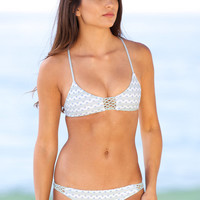 The Girl and The Water - Posh Pua - Lena Bikini Top / Mint Kapa - $68