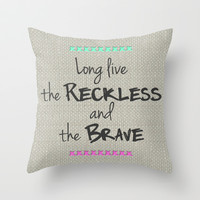 Long Live the Reckless and the Brave All Time Low Lyrics Throw Pillow by andrialou