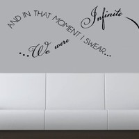 "In That Moment I Swear We Were Infinite 24""-Home Decor-Wall Art-Sticker Decals-Wall Sticker-Wall Decals-Wall Decor-Wall Decoration-Wall Quotes:Amazon:Everything Else"
