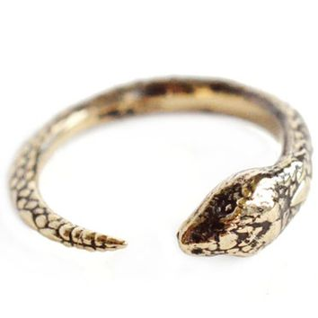 Pamela Love Bronze Serpent Ring