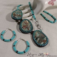 Branching into Winter - a Handmade Beadwoven Necklace by Krafty Max
