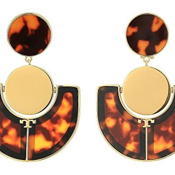 Tory Burch Art Deco Statement Earrings