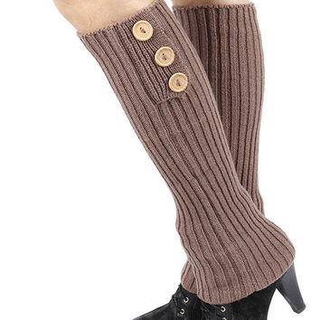 Button Accent Leg Warmer