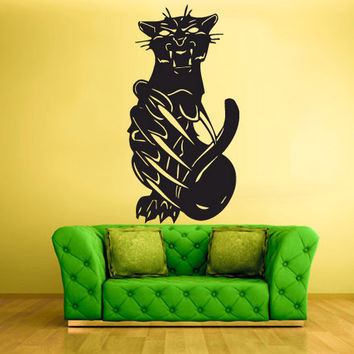 rvz433 Wall Vinyl Sticker Bedroom Decal Decal Cat Pantera