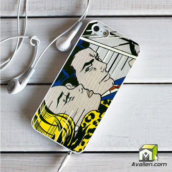 Roy Lichtenstein - comics print iPhone 5|5S case by Avallen