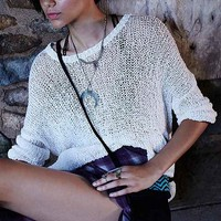 Ecote Slubby Tunic Sweater-