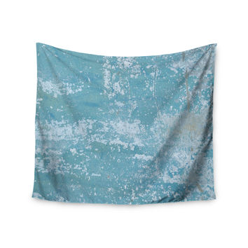 "Jennifer Rizzo ""Galvanized Blue"" Vintage Gray Wall Tapestry"
