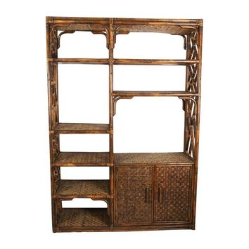 Pre-owned Vintage Bamboo Etagere Large