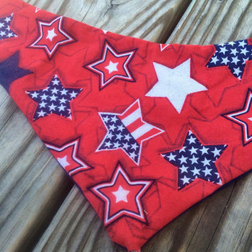 Bandana bib, 4th of July bib, baby bandana bib, bibdana, red white ans blue, patriotic, 4th of july outfit, babys first 4th of july