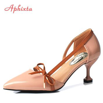 Shoes Women Pumps High Thin Heels Pointed Toe Shoes Spring Ladies Sexy Fish pattern Lattice Sweet Wedding Shoes Pump