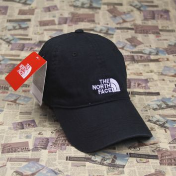 The North Face Embroidered Black Cotton Baseball Cap Hats