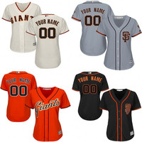 Customize San Francisco Giants Womens Baseball Jersey Any Name Any Number Personality Custom Sf Giants Jersey Size Small ~ 2XL