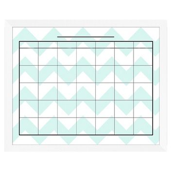 Chevron Decorative Calendar Memoboard - Mint