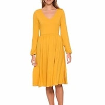 Fit & Flare Jersey-Knit Dress for Women | Old Navy