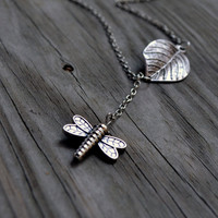 Dragonfly Necklace - Woodland - Rustic - Gifts Under 25 - Women - Teens