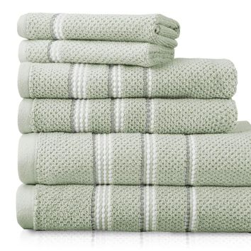 Tribeca  100% Fine Ring Spun Cotton Rice Weave Spa Towels