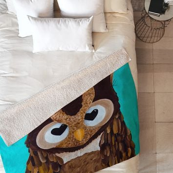 Mandy Hazell Owl Love You Fleece Throw Blanket