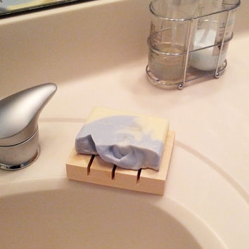 Wooden Soap Dish - Natural Spa Wood - READY TO SHIP