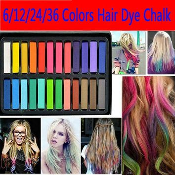 1 set 6 Colors chalk Worldwide hair dyeing hair color chalk crayon  6 colors hair pins